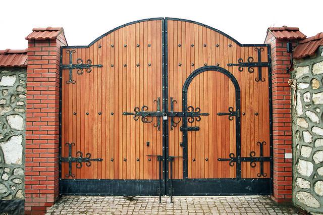 Ворота своими руками чертежи фото и видео с элементами ковки