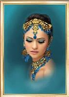 """Схема для вышивки бисером """"Девушка из Индии"""""""