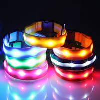 Светящийся ошейник для собак с точечными светодиодами