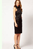 Черное платье Karen Millen с вышивкой из камней KM70290