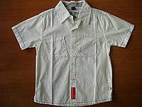Брендовая рубашка Gues с коротким рукавом летняя для мальчика.