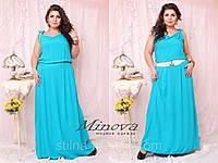 Платье № 209 Б / голубой