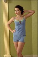 Пижама женская Shato 405/2 (домашний комплект, майка и шорты, одежда для дома)