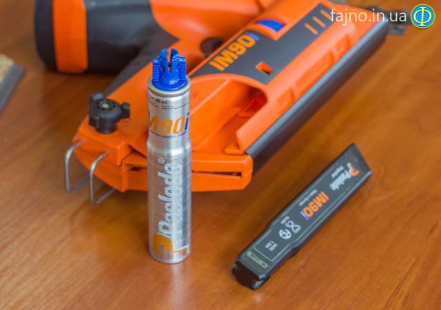 газовый гвоздезабивной пистолет Paslode IM90i баллон