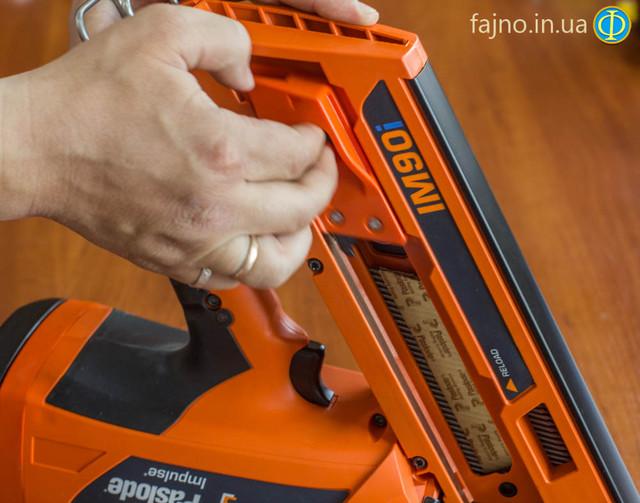 газовый гвоздезабивной пистолет Paslode IM90i зарядка