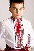 Классическая вышиванка детская Орест красный