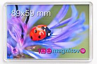 Акриловый магнит 95х65 мм с фото 89х59 мм