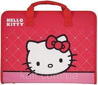 Портфель пластиковый на молнии А4 KITE 2013 Hello Kitty 202
