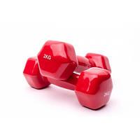 Гантели виниловые для фитнеса 2 шт по 2 кг