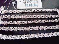 Серебряная женская цепочка - плетение Роза