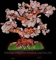 Дерево счастья Розовый кварц