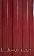 Профнастил ПС12 вишневый 1,2*0,95 м