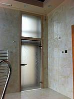 Стеклянные двери с фрамугой Киев