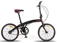 """Велосипед складной 20"""" PRIDE Mini 3sp 2014 черный матовый"""