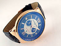 Мужские часы - Ulysse Nardin Maxi Marine - на черном ремешке, кварцевые