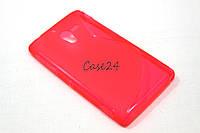 Чехол накладка бампер для Sony Xperia ZL C6503 розовый