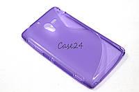 Чехол накладка бампер для Sony Xperia ZL C6503 фиолетовый