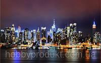 """Рисунок на ткани для вышивания бисером """" Нью-Йорк"""""""