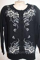 Женская кофта на пуговицах с цветами