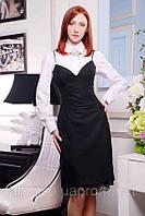 Элегантное платье-сарафан в офисном стиле №355