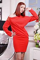 Вечернее платье-туника  с декоративной отделкой №306