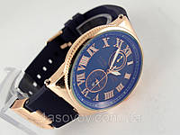Мужские часы - Ulysse Nardin - Le Locle на синем каучуковом ремешке, цвет корпуса золото, синий циферблат