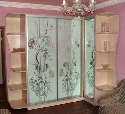 шкафы купе с рисунком: