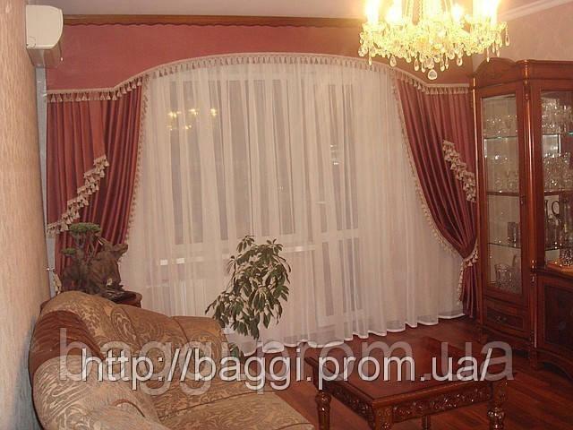 Шторы для гостиной фото киев