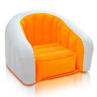 Надувное детское кресло-велюр Intex 69х56х48 см (68597)