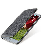 Кожаный чехол книжка Melkco для LG G2 D802 черный, фото 1