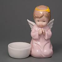 """Фарфоровая статуэтка-подсвечник """"Молящийся Ангелок"""" 11 см красивый подарок"""