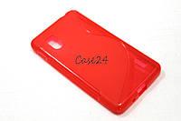 Чехол накладка бампер для LG E975 Optimus G красный