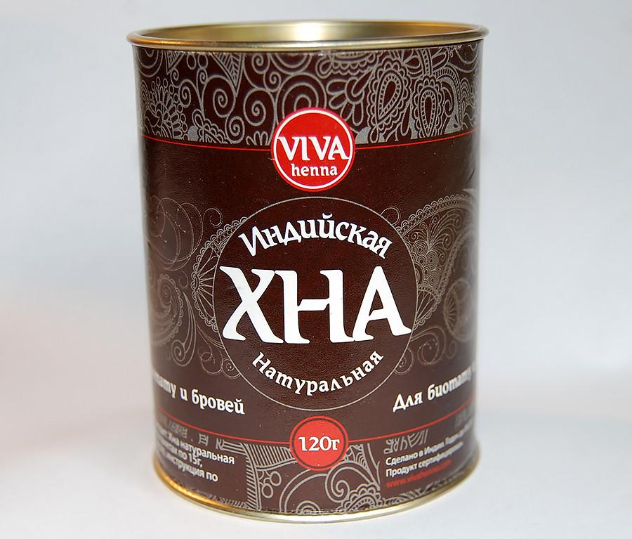 Viva henna хна для бровей коричневая