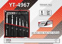 Набор торцевых ключей с шарнирной головкой 6шт,  YATO  YT-4967