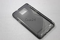 Чехол накладка для Samsung Galaxy S2 i9100 / i9105 Plus серый, фото 1