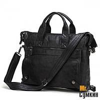 Кожаный портфель мужской S.J.D. Black