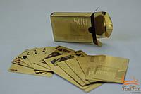 """Оригинальные карты """" Евро """" золотого цвета"""
