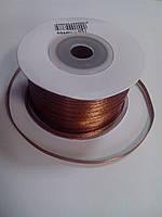 Лента декоративная атлас 3мм 1 метр коричневая (код 02727)