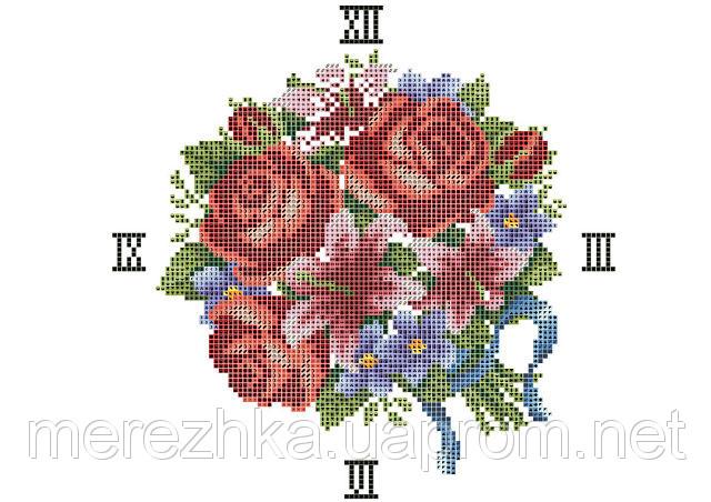 вышивки часов-розы и лилии