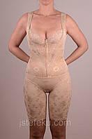 Женское корректирующее белье Комбинезон без бюста на молнии и крючках, украшенный кружевами