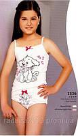 Комплект нижнего белья для девочки с рисунком собачка, Berrak,рост 116