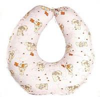 Подушка для кормления ребенка на завязках  (наполнитель - силиконовые шарики) ТМ Руно 909 бежевый