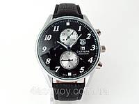 Мужские часы TAG Heuer - Carrera цвет корпуса серебро, черный циферблат, кварцевые