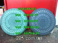 Люки канализационные полимерпесчаные легкие зеленые до 1тонн