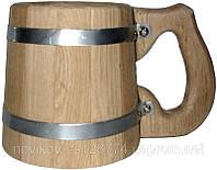 Кружка дубовая бондарная 0.5 литра