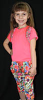 Костюм для девочки футболка с бриджами, фото 1