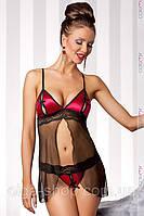 Сексуальный комплект бэби-долл - сорочка пеньюар и стринги Casmir (эротическое женское нижнее белье)