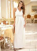 Длинное белое платье в греческом