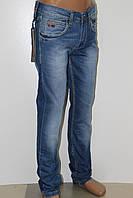 Джинсы мужские классические  LEFORS (Лефорс) летние голубые с потёртостью купить оптом и розницу