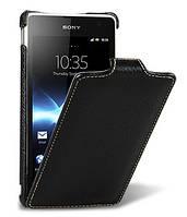 Кожаный чехол Melkco для Sony Xperia TX LT29i  черный